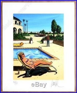 Affiche Loustal Estampe Pigmentaire Black Dog signée 75ex 40x50 cm