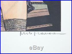 Affiche Milo Manara Le Déclic Le billard 100ex numérotée signée 50x70 cm