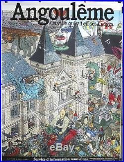 Affiche Offset Darrow Angoulême la ville qui vit en ses images