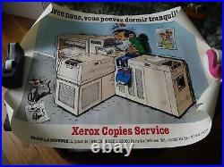 Affiche Originale Vintage Franquin Publicité Pour Les Photocopieurs Rank Xerox