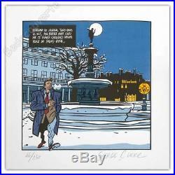 Affiche Serge Clerc Phil Perfect Palais Royal Sérigraphie 150ex signée 50x50 cm