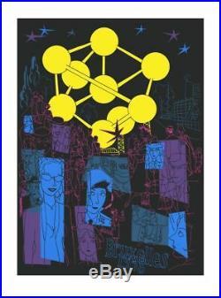 Affiche Sérigraphie Atomium Dupuy-Berberian Bruxelles 1958 Champaka
