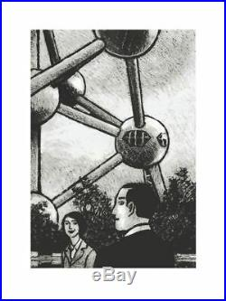 Affiche Sérigraphie Atomium Götting Jeu de regards sous l'Atomium Champaka