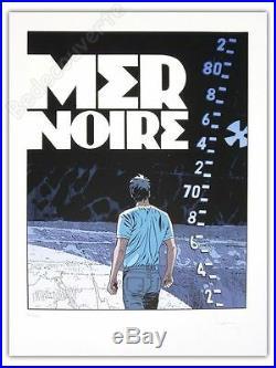 Affiche Sérigraphie BD FRANCQ Largo Winch Mer Noire 100ex signée 60x80 cm