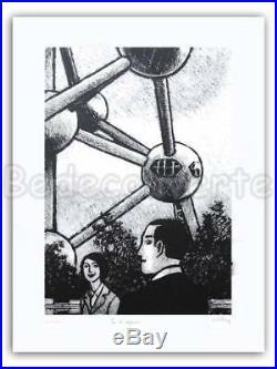 Affiche Serigraphie BD GOTTING Atomium Jeu regards 199ex-s 60x80