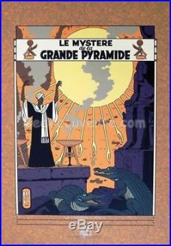 Affiche Serigraphie BD JACOBS Blake et Mortimer Pyramide 70x100