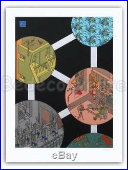 Affiche Serigraphie BD Joost SWARTE Atomium Belga 58 199ex-s 60x80