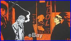 Affiche Serigraphie BD MUNOZ Alack Sinner Orange signé 57,5x96,5 cm