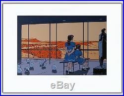 Affiche Serigraphie BD TED BENOIT Lisa atomic girls 199ex-s 60x80