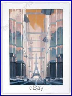 Affiche Sérigraphie François Schuiten Revoir Paris 300 ex signée 60x80