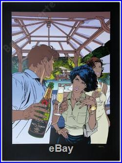 Affiche Sérigraphie Francq Largo Winch Champagne Moet Chandon 75ex signée 60x80