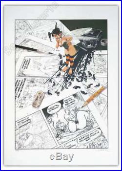Affiche Sérigraphie LOISEL Clochette Hommage Astérix 400ex num-sg 50x70 cm
