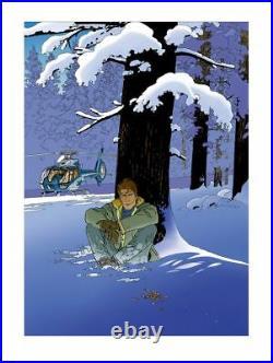 Affiche Sérigraphie Largo Winch Méditation hivernale Durango