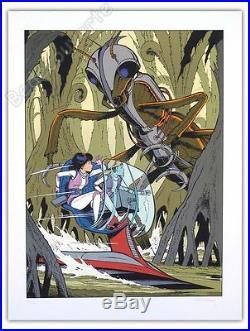 Affiche Sérigraphie Leloup Yoko Tsuno et les Titans 110 ex num signée 60x80 cm