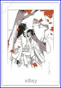 Affiche Serigraphie MICHETZ Kogaratsu Automne Femmes EA signé 50X70 cm
