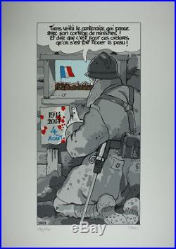 Affiche Sérigraphie Tardi Centenaire 14-18