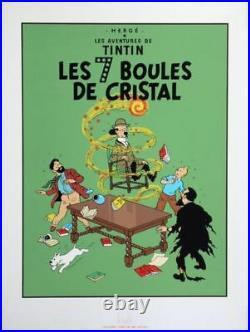 Affiche Sérigraphie Tintin Les 7 Boules de Cristal Christian Desbois Editions