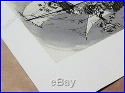 Affiche de luxe Franquin Gaston Livres de bord 128ex Format 41x55 cm