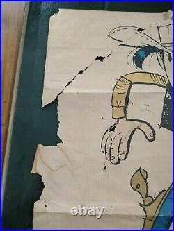 Affiche dédicacée Lucky Luke Morris Année 1970