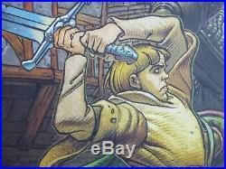 Affiche lithographie 30x40 cm Jeu vidéo PILGRIM Jean GIRAUD GIR MOEBIUS 1997