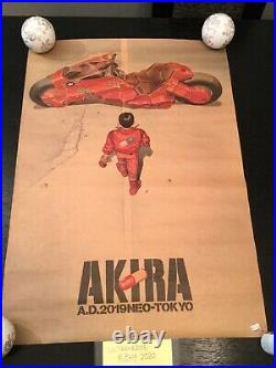 Akira Katsuhiro Otomo Original Poster 1987 Kodansha Very Rare Sale Japan