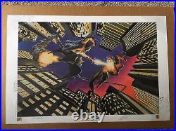Alex Ross Spiderman vs Green Goblin. Dynamic Forces Poster 41/199 RARE Signed