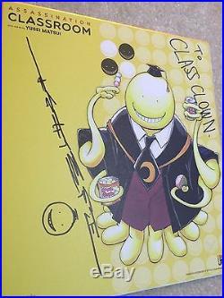 Assasination Classroom signed Yusei Matsui Print Poster 2016 NYCC