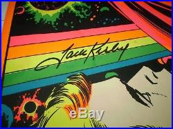 Astral Thor 1971 Marvel Third Eye Blacklight poster TE4006 JACK KIRBY SIGNED