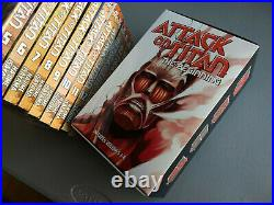 Attack on Titan Manga Lot, Volumes 1-15, Comes with 2 Posters! English, Used