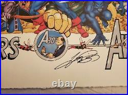 Avengers 30th Anniversary Lithograph George Perez 1994 Signed Poster Print 24X36
