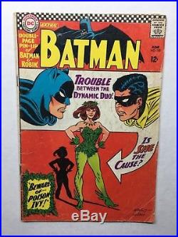 BATMAN #181 First appearance of POISON IVY 1966 DC comic book VG w Poster