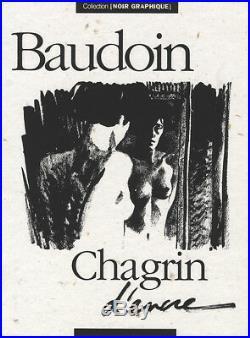 BAUDOIN PORTFOLIO CHAGRIN D'ENCRE 222 ex. N°/signés en sérigraphie