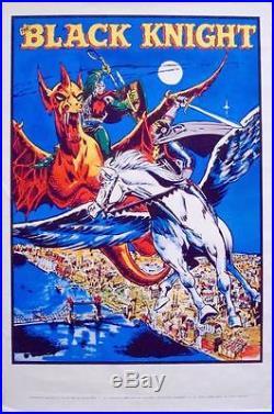 BLACK KNIGHT MARVELMANIA 1970 Vintage Marvel comics poster 23x35