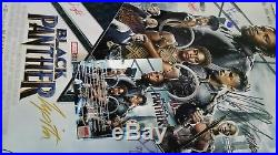 BLACK PANTHER Cast Signed DS Movie Poster Chadwick Boseman Marvel Comics Avenger