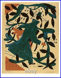 BLEXBOLEX SERIGRAPHIE LA POURSUITE 30 ex n°/signés par l'artiste- PIPIFAX 2006