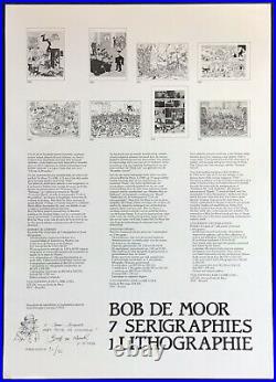 BOB DE MOOR Rarissime et magnifique portfolio 85 ex. N&s 1984 Excellent état
