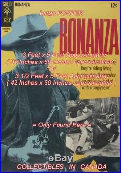 BONANZA 1966 Lorne Greene TV SHOW = POSTER Comic Book 2 SIZES 5 Feet Long