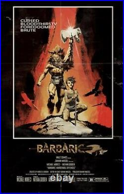 Barbaric #1 Vault Exclusive Foil Variant Conan Movie Poster Homage Gorgeous