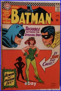 Batman #181 Hot DC Silver Age Key 1st Poison Ivy No Pinup Poster VG 4.0