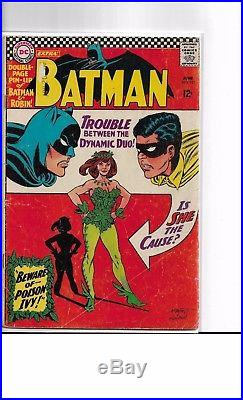 Batman #181 VG 1st Appearance Poison Ivy Key Issue 1966 with Poster