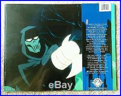 Batman AP COA Signed Bob Kane Mask Of The Phantasm Movie Poster Plus Movie Cards