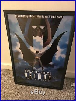 Batman COA Signed Bob Kane Mask Of The Phantasm Movie Poster Framed dc comic