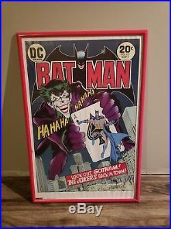 Batman/Joker Bob Kane PSA/DNA autographed poster