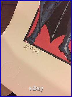Batman Lithograph Poster Signed By Bob Kane W COA. Artist Proof #65 Of Only 95