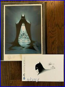 Batman Lithograph Signed and Sketched by Greg Capullo and inked by Danny Miki