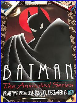 batman the animated series fox premiere poster 1992 comic book poster