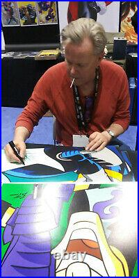 Batman Wayne The Animated Series Bruce Timm Signed Wb Vintage Art Lithograph 90s