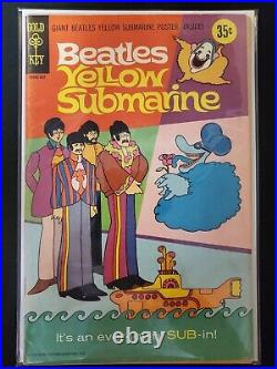 Beatles Yellow Submarine #1 with Poster Gold Key 1968 VG+ Comics Book