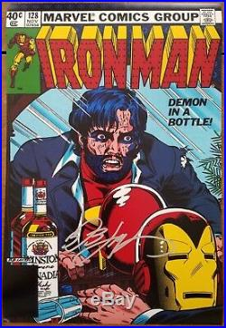 Bob Layton Signed Iron Man 128 Comic Book Art 12x18 Poster Marvel Tony Stark RAD