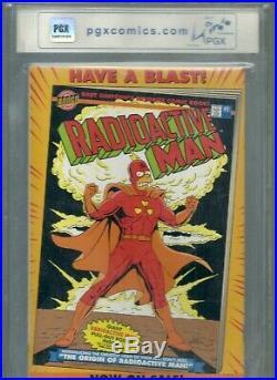 Bongo BARTMAN #1 Silver Foil Cover PGX 9.8 Bart Simpson POSTER Comic Book cgc